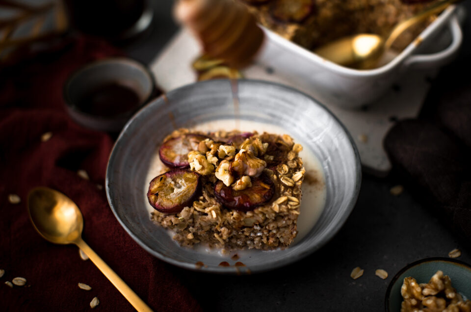 Herbstliches Baked-Oatmeal